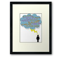 life makes ECHOES. (stick girl.) Framed Print