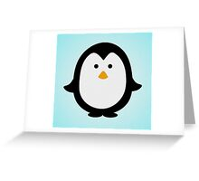 Penguin Illustration Greeting Card