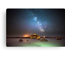 Milky Way at the Mount Canvas Print