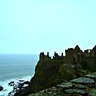Dunluce Castle on a Cliff by annbelleproject
