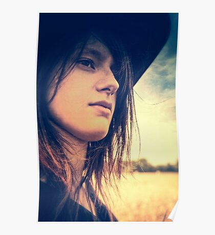 Cowgirl Portrait Poster