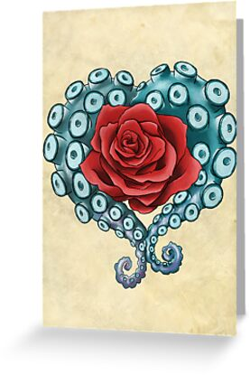 Octo Rose Love by Courtney Marie Art