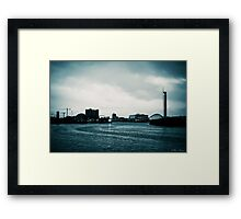 Clyde in the evening - filtered Framed Print
