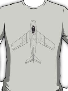 Mikoyan MiG-15 Blueprint T-Shirt