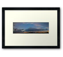 ©HCS Cloudscape And Tower With Cirrus Framed Print