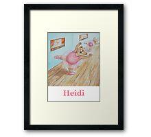 Heidi Ballet Bear Framed Print