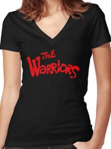 The Warriors Women's Fitted V-Neck T-Shirt