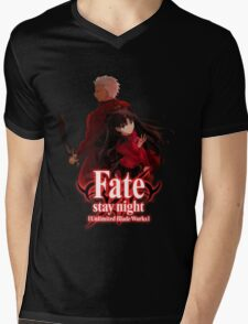 Fate stay night unlimited blade works Mens V-Neck T-Shirt