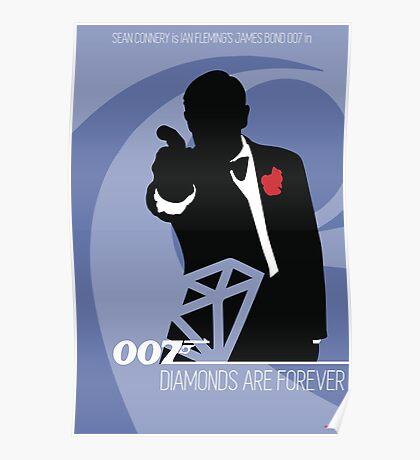 James Bond - Diamonds Are Forever Poster