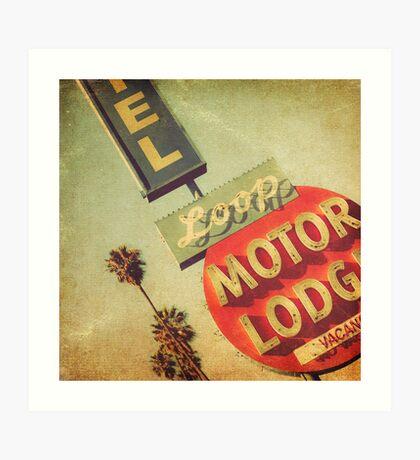 Loop Motel Art Print