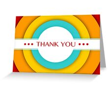 retro thank you Greeting Card