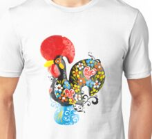Famous Rooster #01 - Floral Edition Unisex T-Shirt