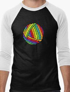 rainbow yarn Men's Baseball ¾ T-Shirt