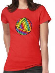 rainbow yarn Womens Fitted T-Shirt
