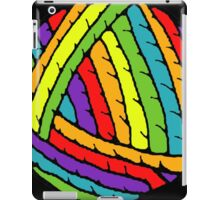 rainbow yarn iPad Case/Skin