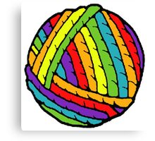rainbow yarn Canvas Print