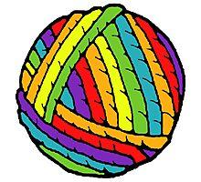 rainbow yarn Photographic Print