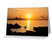Golden Toronto Skyline at Sunrise Greeting Card