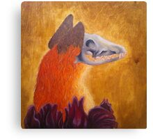 Skull Fox Canvas Print