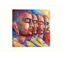 Buddha and the Followers Art Print