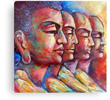 Buddha and the Followers Canvas Print