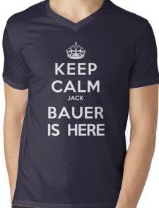 Keep Calm Jack Bauer is Here Mens V-Neck T-Shirt
