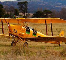 Beauty Comes With  Age, biplane De Havilland Tiger Moth  Canberra Australia by Kym Bradley