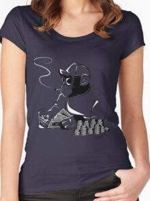 Chimp poker Women's Fitted Scoop T-Shirt
