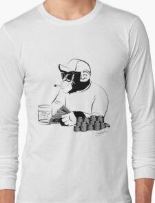 Chimp poker Long Sleeve T-Shirt