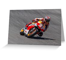 Marc Marquez at laguna seca 2013 Greeting Card