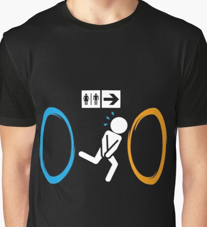 Portal Toilet Graphic T-Shirt