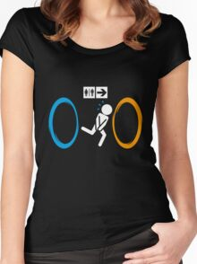 Portal Toilet Women's Fitted Scoop T-Shirt