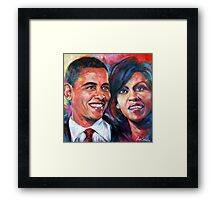 Barack and Michelle Obama Framed Print