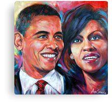 Barack and Michelle Obama Canvas Print