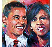 Barack and Michelle Obama Photographic Print