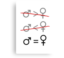 Gender Equality: It's Simple Canvas Print