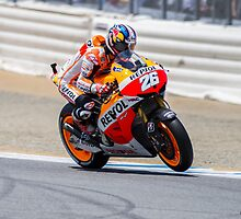 Dani Pedrosa at laguna seca 2013 by corsefoto