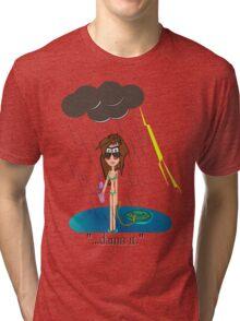 Rainy Day at the Beach Tri-blend T-Shirt