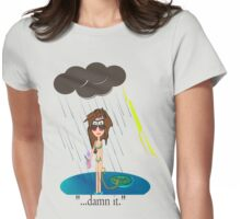 Rainy Day at the Beach Womens Fitted T-Shirt