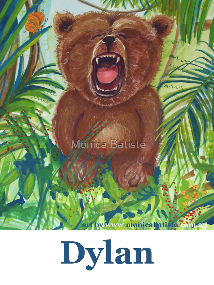 Dylan with roaring bear by Monica Batiste