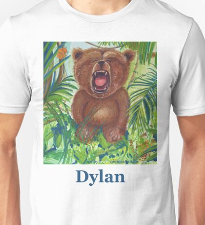 Dylan with roaring bear Unisex T-Shirt
