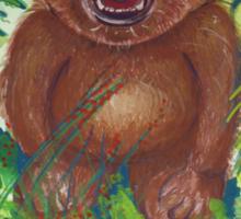 Dylan with roaring bear Sticker