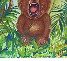 Harry roaring bear by Monica Batiste