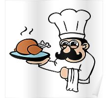 cook chef cuisinier chicken Poster