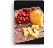 Cheese & Grapes Canvas Print