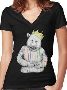 Bigi Bear Women's Fitted V-Neck T-Shirt