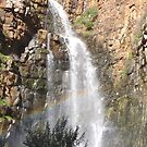 A Rainbow in the Falls. Morialta Cons. Park. Adelaide Foothills. by Rita Blom