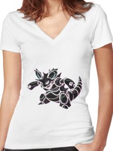Nidoking Women's Fitted V-Neck T-Shirt