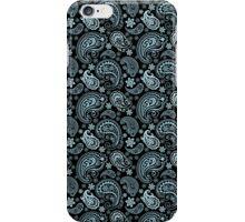 Blue-Gray Pastel Tones Vintage Seamless Paisley Pattern iPhone Case/Skin