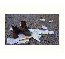 Walking Shoes Art Print